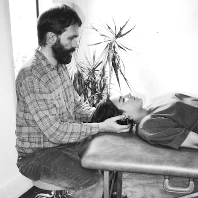 Alan Sheets doing Feldenkrais for a client